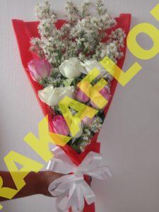 Rangkaian bunga valentines